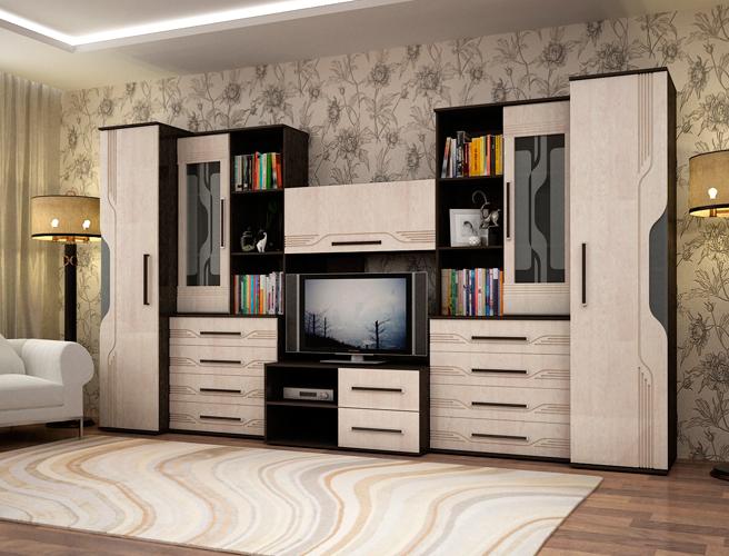 стенки для гостиной недорого фото и цены